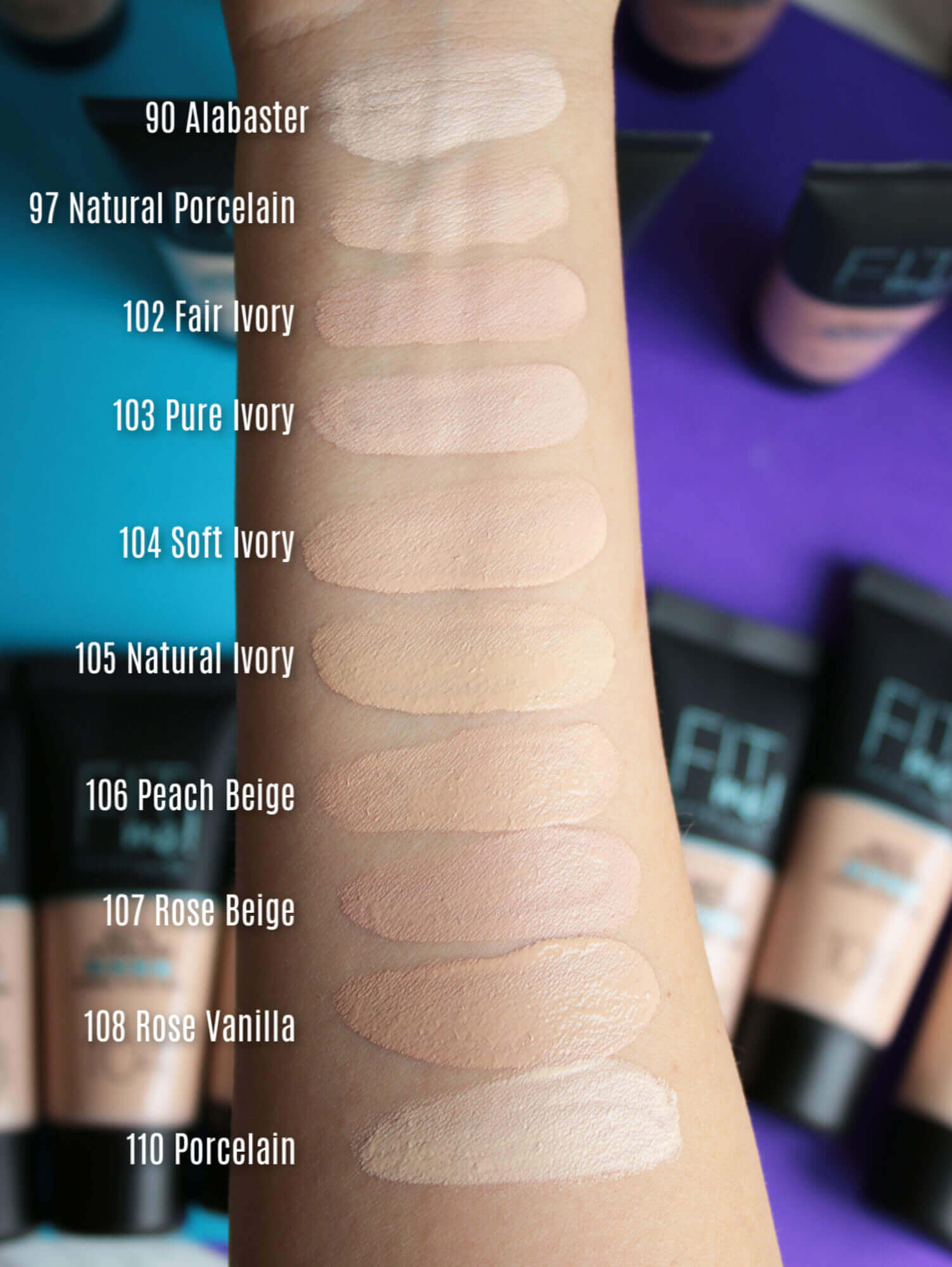 Maybelline Fit Me Matte And Poreless Foundation 105 Natural Ivory